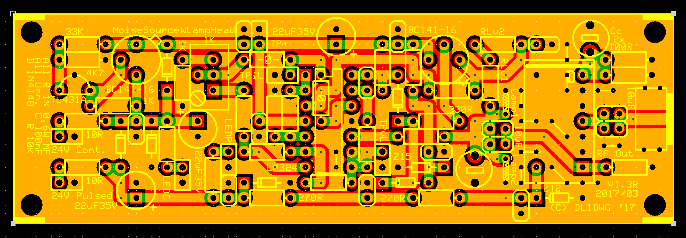 A Lamp Noise Head Electronic Projects For Fun High Power Rf Relay Switch Apart From The Circuit In Diagram Pcb Also Accommodates Voltage Regulator An Switching Between 50ohms Termination Resistor And