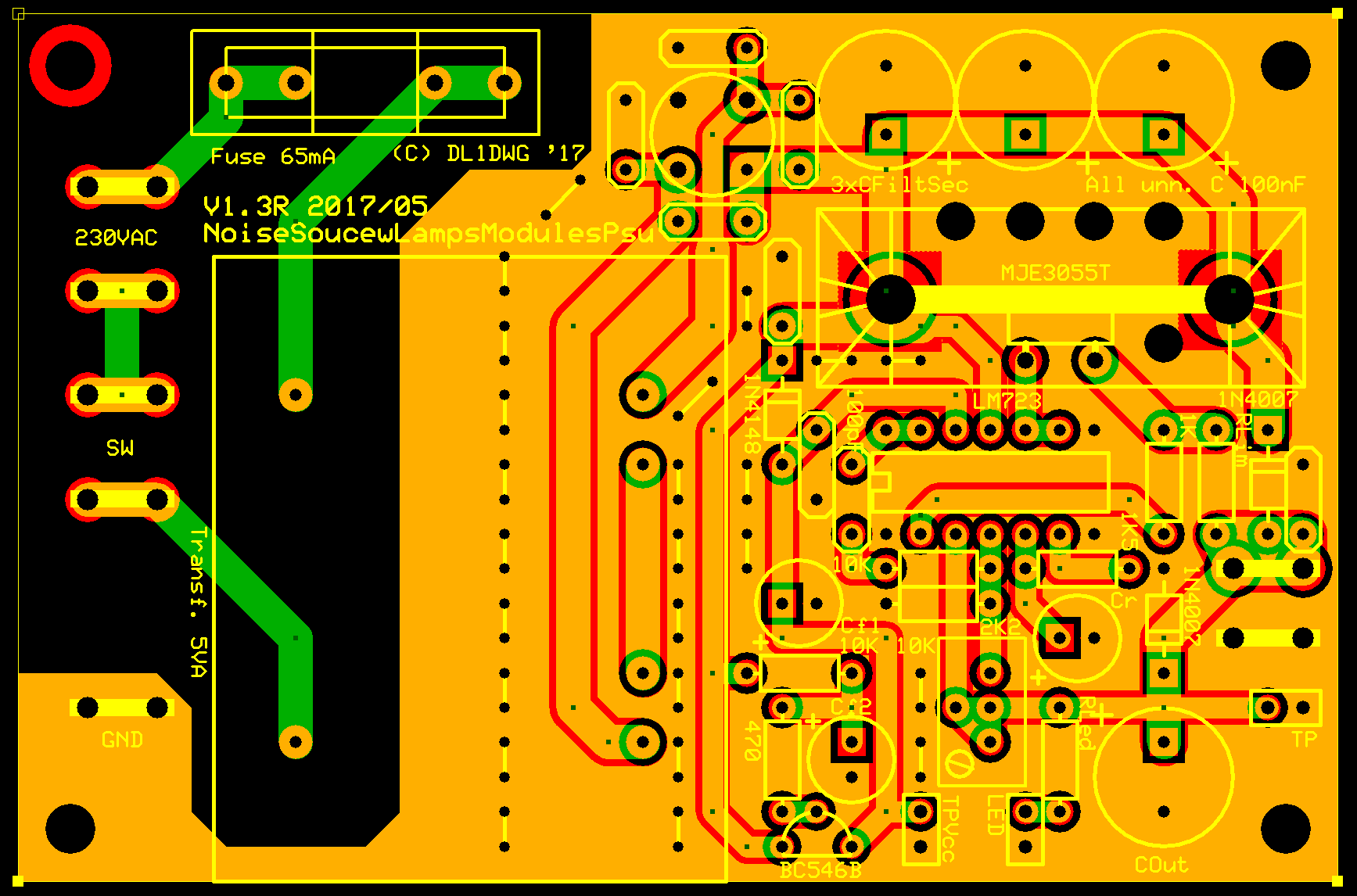 A Lamp Noise Head Electronic Projects For Fun Dc Power Supply Miniature Isolated Diagram And Circuit It Has Preregulator To Eliminate Ripple The Error Amp Rest Of Is Straightforward Some Anti Rfi Caps Are Added Around Rectifier