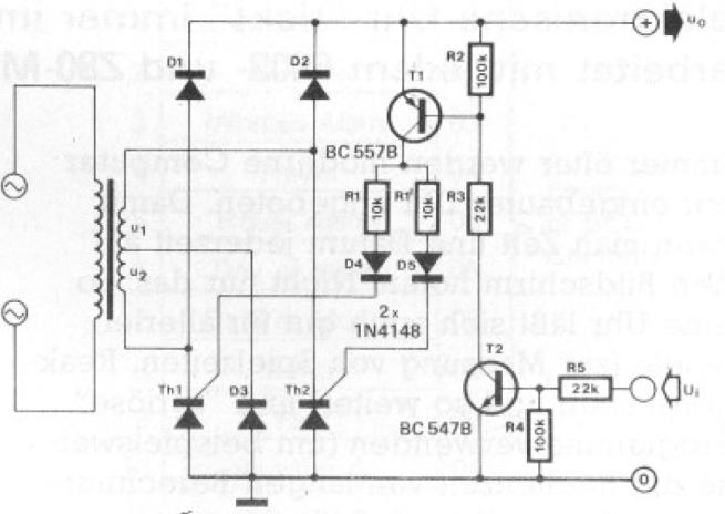 LinearPowerSupplyRangeSwitchingWithTappedTransformerElektor