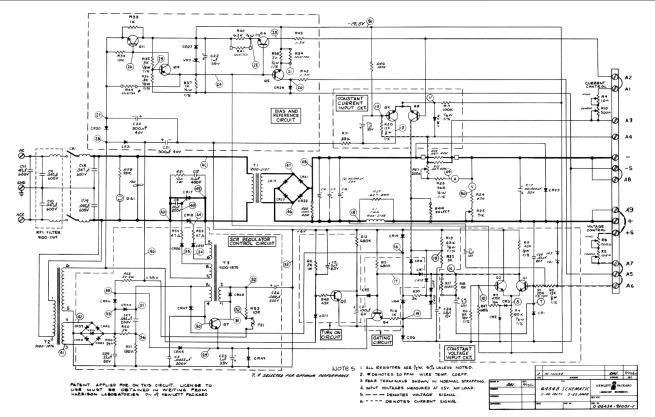 LinearPowerSupplyWithSCRPreregulatorHP6434B